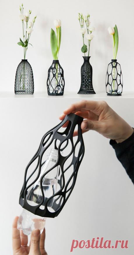 Дизайнерские вазы-кашпо, распечатанные на 3D принтере