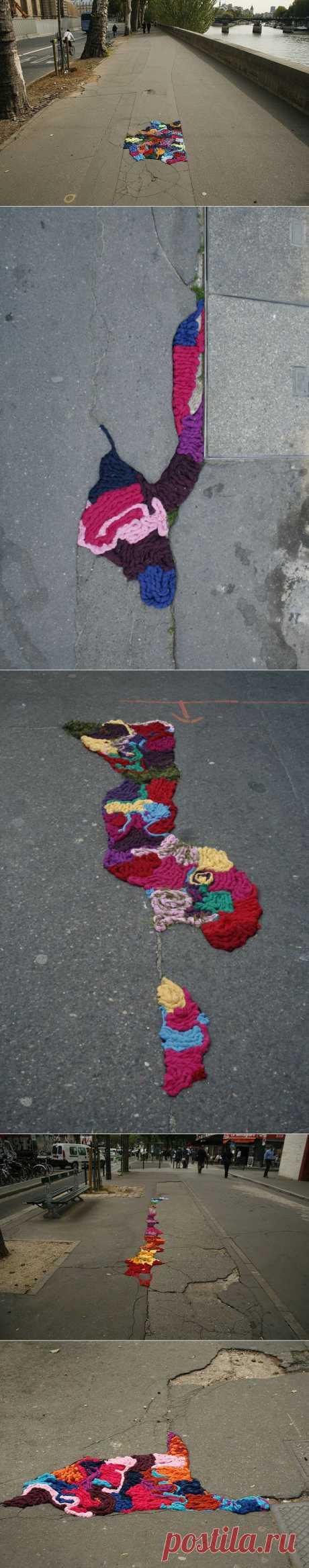 Дорога с рукодельными заплатками / Арт-объекты / Модный сайт о стильной переделке одежды и интерьера