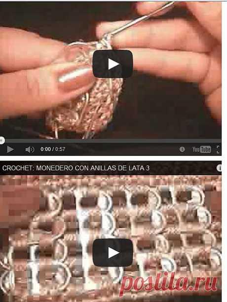 Мастер-класс на видео из 3-х частей. Как связать сумочку из ключиков от пивных банок..