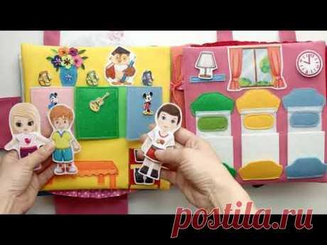 Большой ДОМ КУКОЛ с СЕМЬЁЙ, детским садом и ТЕАТРОМ для Ариши #8лет (#Москва ) #кукольныйдомик #doll
