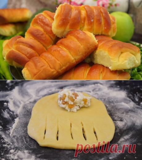 ПЫШЕЧКИ - ВКУСНЫЕ булочки с творожной начинкой! | Найди Свой Рецепт | Яндекс Дзен
