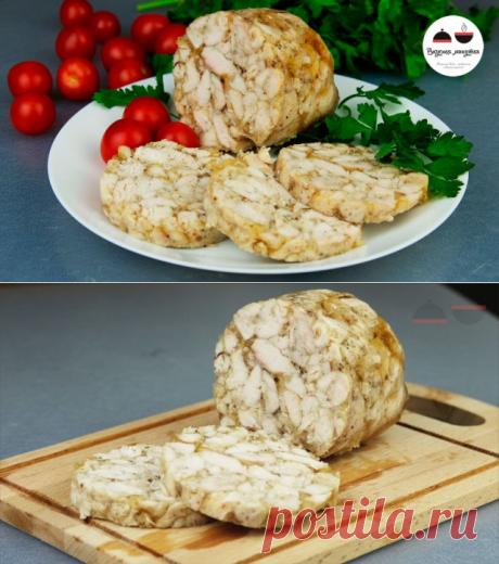 ДОМАШНЯЯ КОЛБАСА из куриного филе - вкусная закуска на новогодний стол
