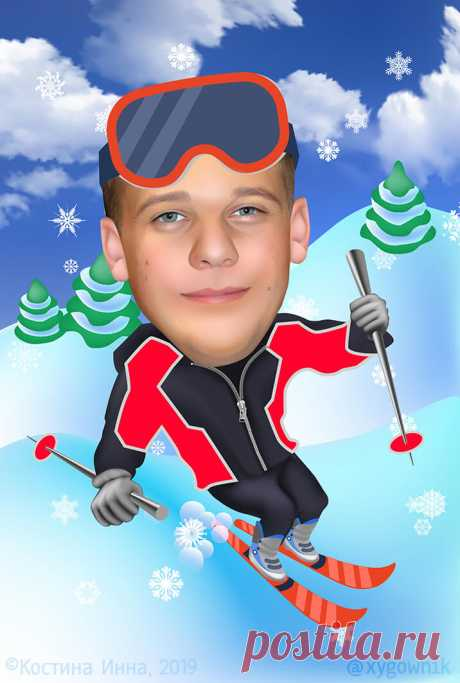 #лыжник