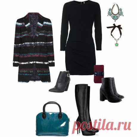 образ с черным платьм