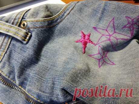 Мастер-класс, как вышить звезду на ткани, советы мастерицы