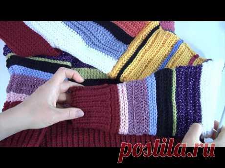 ПРОСТЫЕ УЗОРЫ КРЮЧКОМ/Вязание для НАЧИНАЮЩИХ/Очень эластичная резинка и простой узор #crochet