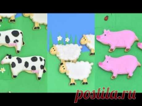 COW, SHEEP and PIG FARM COOKIES by HANIELA'S