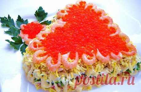 Подборка красивых и вкусных салатов