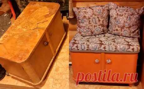 Не торопись выбрасывать старую советскую мебель! Кто бы мог подумать, что получится шедевр…