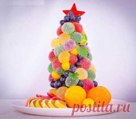 Сладкая елочка из мармелада для новогоднего стола » Женский Мир