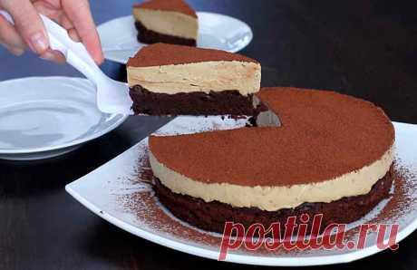 Шоколадный торт с кофейным суфле. Без муки!