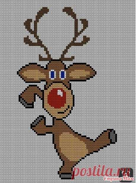 Новогодний свитерок (есть схема вышивки) - Вязание - Страна Мам