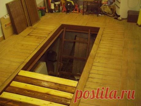 Делаем креативную крышку для смотровой ямы в гараже