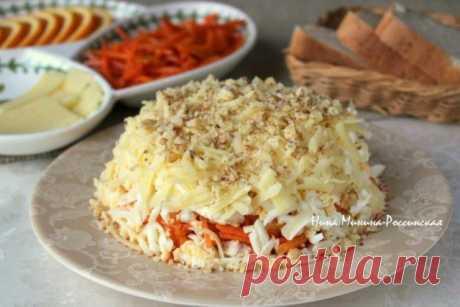 Такой салат должен быть на каждом праздничном столе — Пряный куриный салат с апельсином    Очень получается интересный вкус, который невозможно забыть!          Ингредиенты: Апельсин – 1 шт.;Куриное мясо (вареное, жареное) – 300 гр.;Твёрдый сыр – 50 гр.;Яйца, сваренные вкрутую – 3 шт.;М…