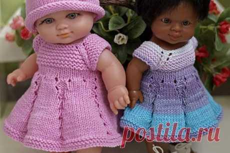 МК: вязаное платье для пупса | all Dolls
