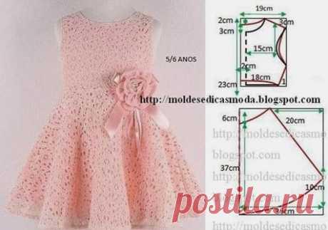 оригинальное платье для малышки