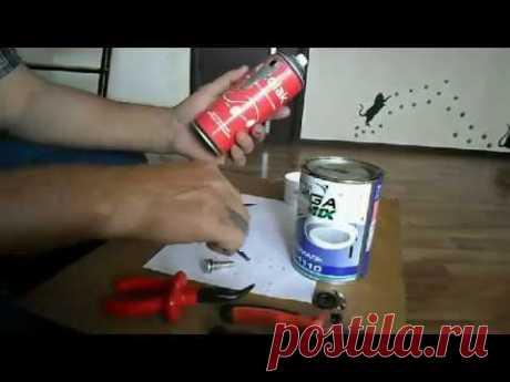 Как сделать многоразовый баллончик для краски