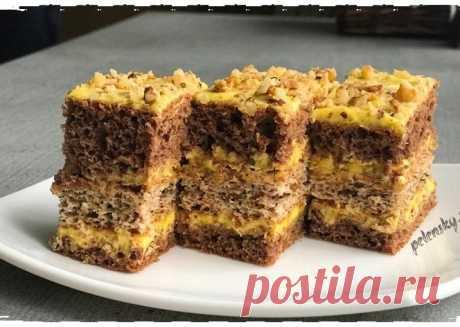 """Торт-пляцок """"Лимонно-горіховий"""", бюджетний та швидкий у приготуванні смаколик. – Прості рецепти"""