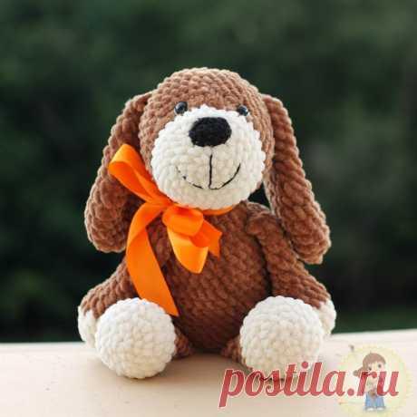 СХЕМА вязания собачки крючком из плюшевой пряжи #вязанаяигрушка #игрушкикрючком #вязанаясобака #amigurumipattern #crochetpattern #amigurumidog #crochetdog