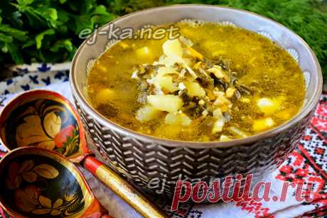 Зелёный борщ с щавелем и яйцом, рецепт с фото пошагово