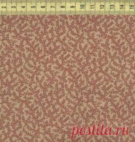 Веточки розовые на бежевом ф. W33439-3