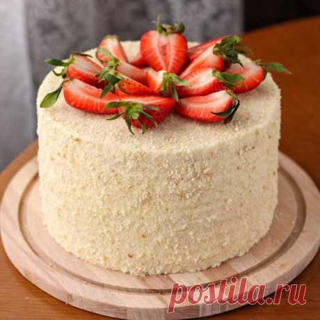 Сметанный торт ⠀