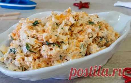 Праздничный салат из минтая «Раковые шейки» - БУДЕТ ВКУСНО! - медиаплатформа МирТесен