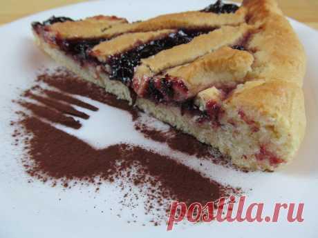 Постный пирог с вареньем / jam cake — Кулинарная книга - рецепты с фото