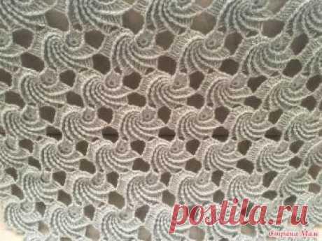 """. Оригинальная шаль """"Мидии"""" крючком. Нашла необычайно красивую шаль турецкой рукодельницы из мотивов.  Огромное спасибо Гюли за перевод!"""