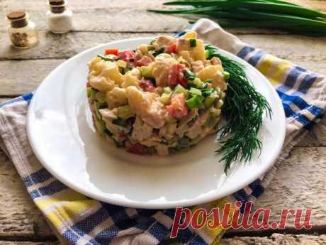 Салат с курицей и цветной капустой - пошаговый рецепт с фото на Повар.ру