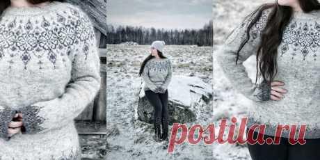 Пуловер с жаккардовым узором Norrbotten - Вяжи.ру