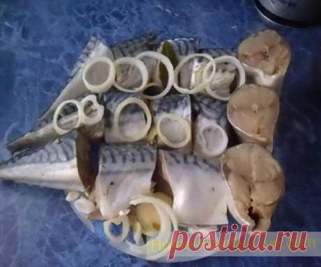 Соленая скумбрия - пошаговый фото рецептКулинарные рецепты