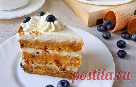 Бесподобный морковный торт со сметанным кремом - Вкусные рецепты - медиаплатформа МирТесен