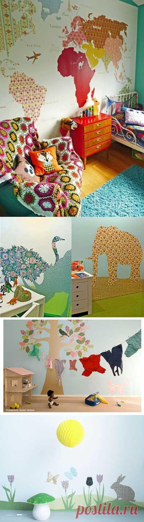 Творческий декор стены обоями / Детская комната / ВТОРАЯ УЛИЦА