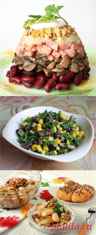 5 повседневных салатов с фасолью / Простые рецепты