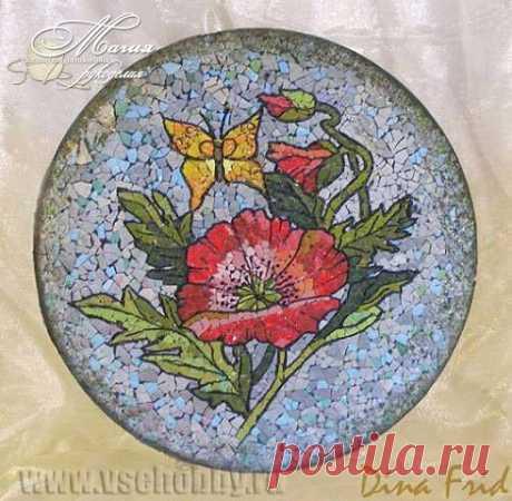 Мозаика из яичной скорлупы / Необычные поделки