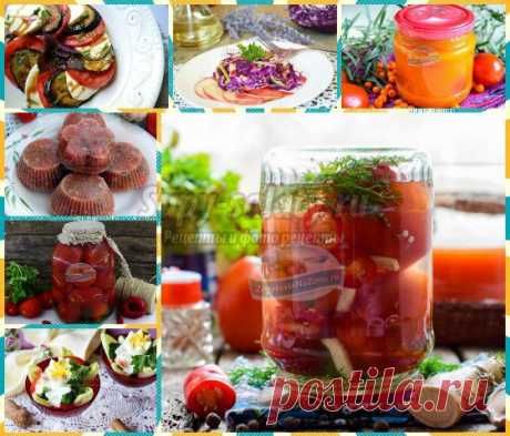 ТОП - 10 рецептов заготовок из помидор + 20 салатов из овощей!