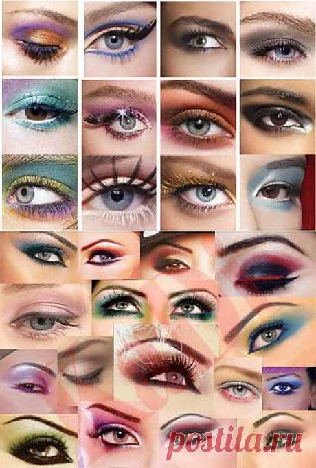 Правильный макияж для карих глаз.