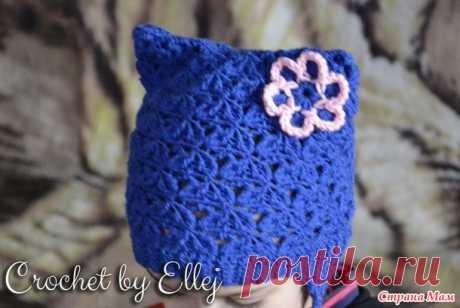 МК. Синяя котошапка крючком - Вязание - Страна Мам