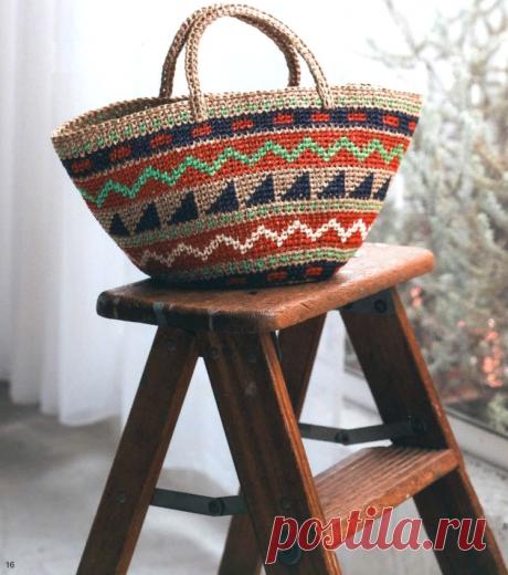 Вязаные сумки крючком   Красивое и интересное вязание   Яндекс Дзен
