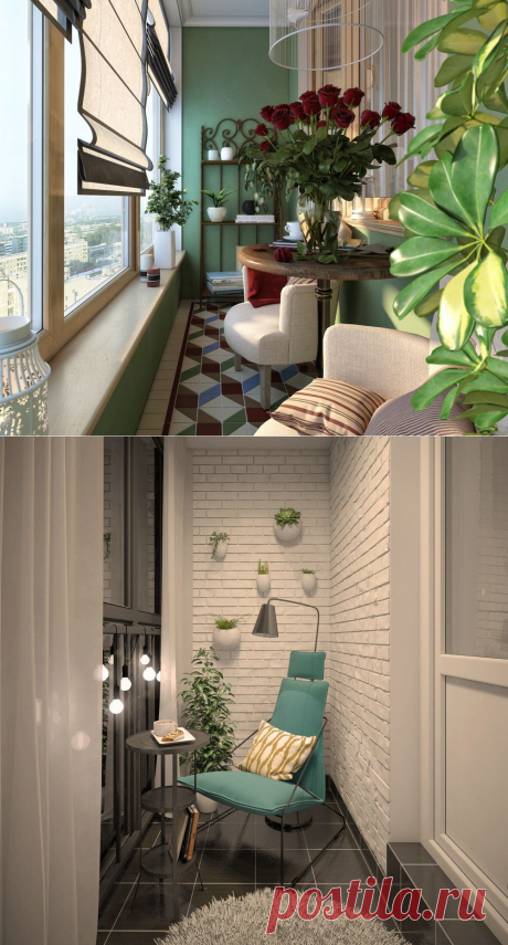 Идеи уютных балконов и лоджий для душевных вечеров — Сделай сам, идеи для творчества - DIY Ideas