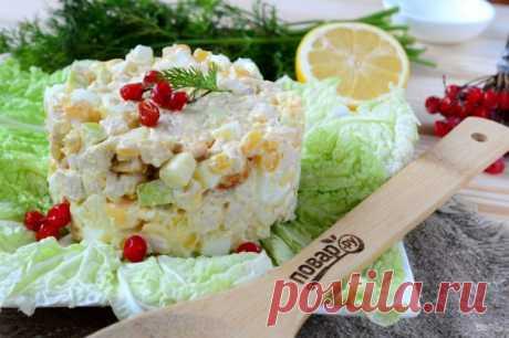Салат из кукурузы и куриной грудки - пошаговый рецепт с фото на Повар.ру