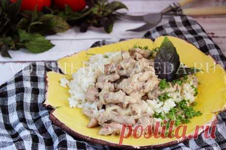 Бефстроганов из свинины с подливкой, рецепт с фото | Волшебная Eда.ру