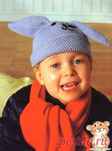 Детская шапка крючком схема и описание » Страница 3
