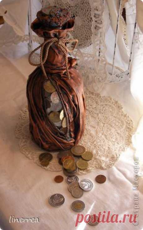 моя денежная бутылка по МК Натальи | Страна Мастеров