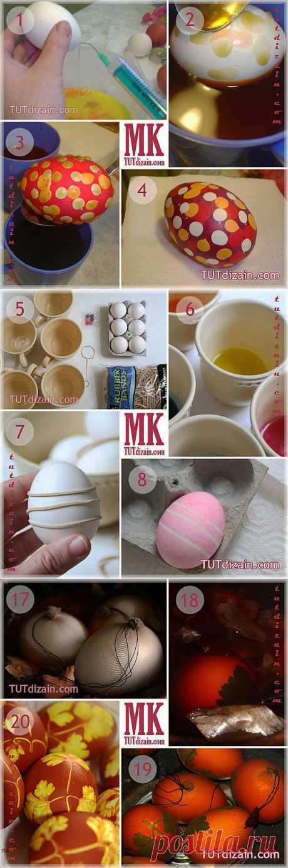 Идеи по росписи пасхальных яиц »