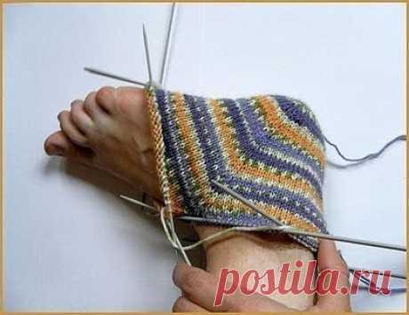 Носки с пятки