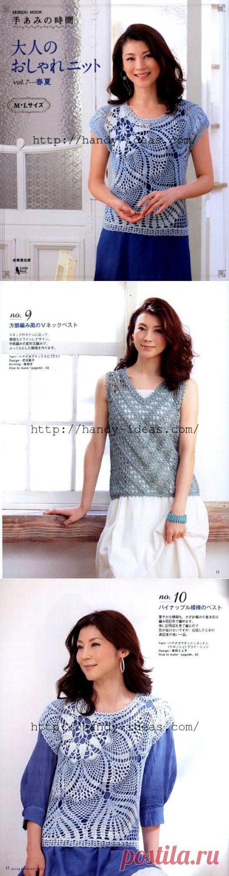 Японский журнал женских моделей со схемами. Вязание крючком