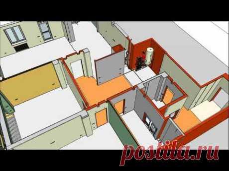 3d модель квартиры 160 кв.м. для технического дизайна. Казань