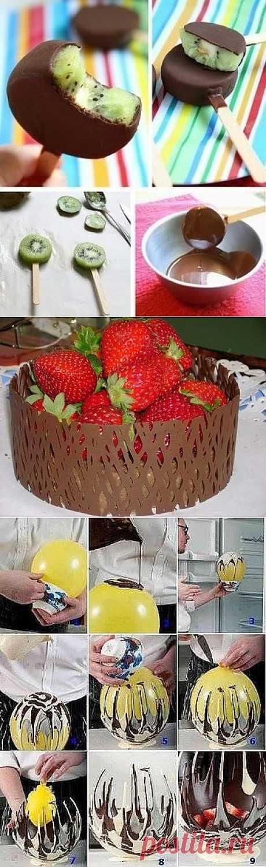 Несколько полезных советов и способов украшений десертов хозяйкам!.